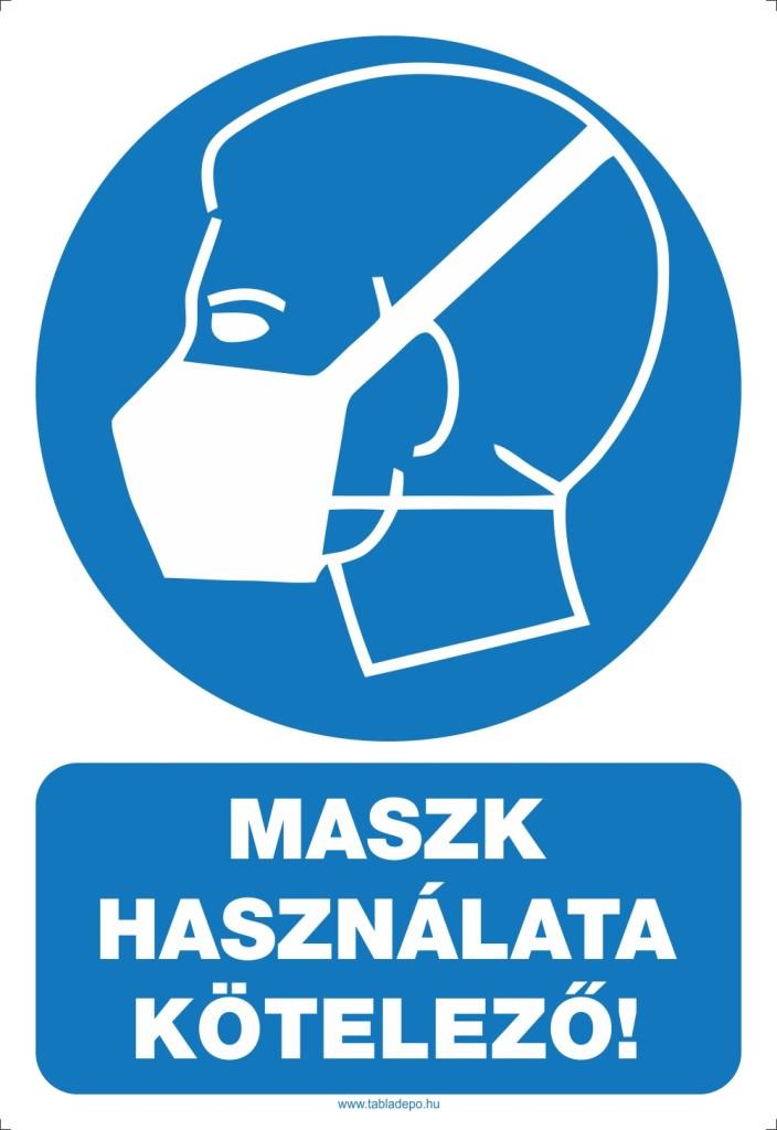 maszk hasznalata kotelezo - TDK40123-220x320mm - maszk hasznalata tábla és matrica